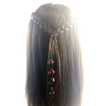 New Fashion Synthetic Wig Charming Twist Rubber Elastic Hair Band Tassels Long Hair Accessories Femme Bijoux Fine Headbands Girl