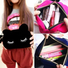 1 pc Soft Storage Bags Cosmetic Pouch Beauty Travel Cosmetic Pouch Girl Fashion Multifunction Cute Bag