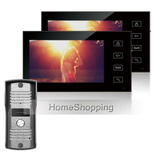 FREE SHIPPING New Wired 7 inch TFT Video Phone Intercom System+ 2 Touch Button Monitors + Waterproof Doorbell Camera IN STOCK