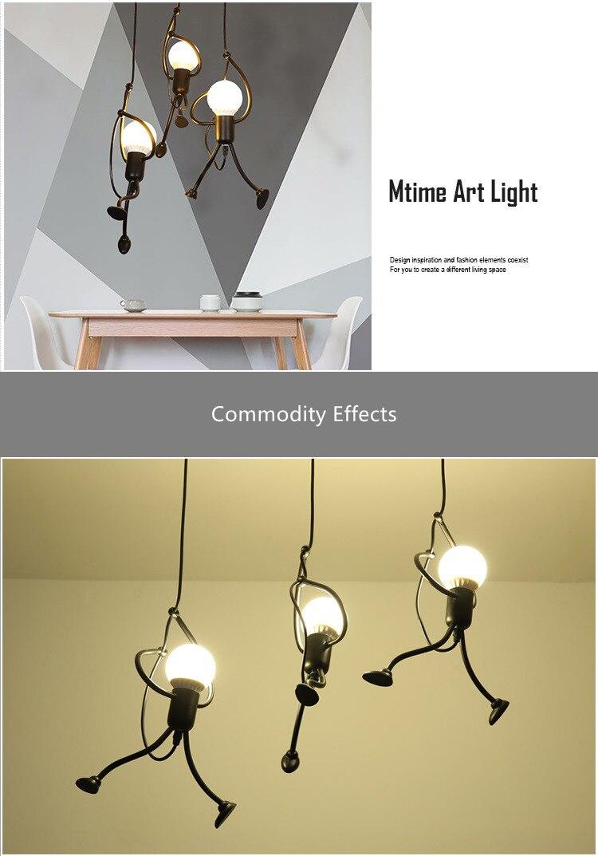 Novelty Pendant Lighting Fixtures Black Iron Dining Room Cafe Restaurant Lamps Modern Hanging Light Suspension Luminaire 7