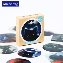 92 PCS/pack Star Sky Black Cats Diary Stickers Post it Kawaii Planner Scrapbooking Sticky Stationery Escolar School Supplies(China)