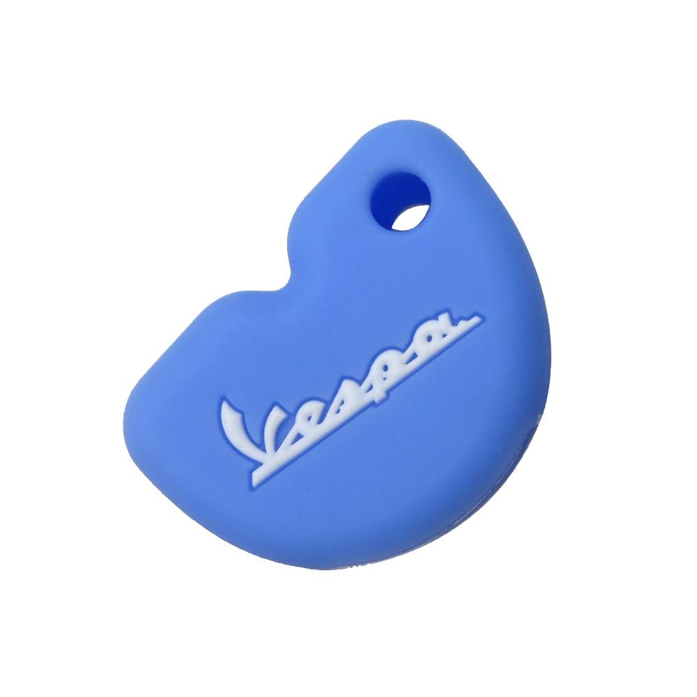 Cubierta De La Llave De La Motocicleta Apta para Vespa Enrico Piaggio Gts300 946 Lx150 Azul Funda Protectora De Silicona Scooter Funda De La Llave del Coche
