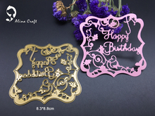 METAL CUTTING DIES  DIY Scrapbook album PAPER CRAFT embossing stencils template letters happy birthday flower frame cutter