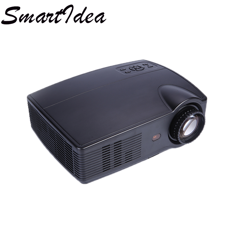 SmartIdea Multimedia LED Projector 4000lumen 1280x800pixel HD LCD 3D Home Cinema Proyector HDMI VGA TV USB Beamer with Long Life(China)