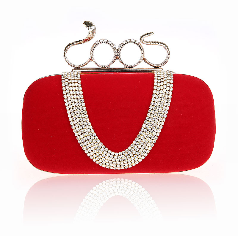 2016 High Quality red Lady Banquet Handbag Clutch Party Bridal Evening Bag Women with Shoulder Chain Makeup Bag Bolso 12057<br>