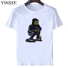 Dank Memes t shirt 2017 It Tee shirts Pepe Custom Short Sleeve Boyfriend's Male Coole Tee Shirts Plus Size XXXL free shipping