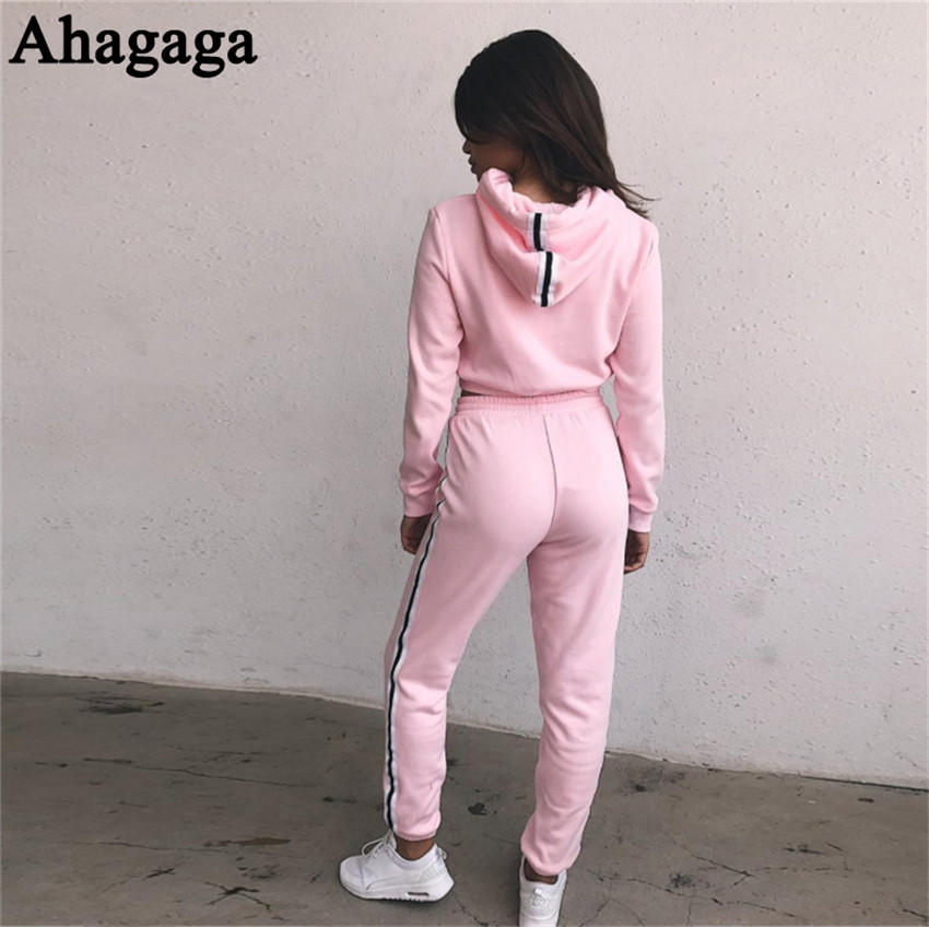 Women's Tracksuits Set, Casual Hooded Sweatsuit Set 27
