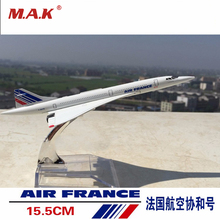 Concorde Air France Diecast Plane Model Airplane 1/400 Scale Diecast Airplane Aircraft Alloy Model Kids Toys Collections Gifts(China)