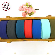 High quality 1''(25mm)  hair tie making foe band fold over elastic ribbon webbing solid headwear handmade DIY decoration crafts