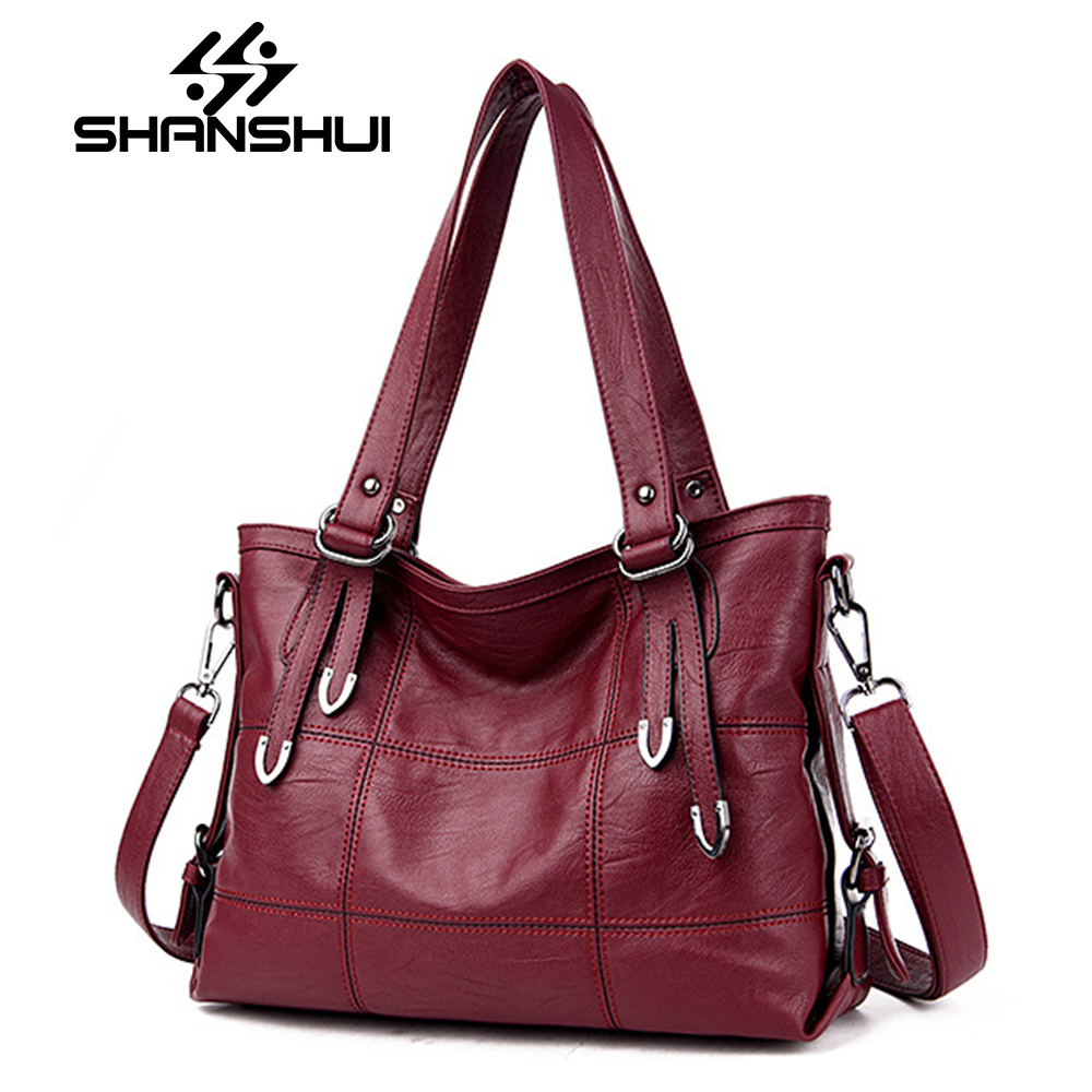 SHANSHUI Handbags Women Bags Designer Plaid Womens Leather Handbags Big Casual Tote Bag Ladies Shoulder Bag Woman Double Arrows<br>