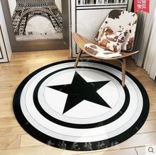 2016 High Quality acrylic Captain America Round rugs Five Star Living room doormat cartoon Carpets Door Floor Mat For Bedroom