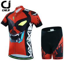CHEJI Short Sleeve Cycling Jersey Sets Ropa Ciclismo Kids Breathable Cycling Clothing Children Summer Bicycle Bike Clothes