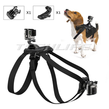 Buy Adjustable Elastic hound Dog Pet Harness Chest Strap Back Mount Fetch Gopro Hero 5 4 3 Xiaomi Yi Action Camera SJ4000 for $12.99 in AliExpress store