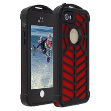 For iphone5/5S/SE Outdoor Sports Spidercase Waterproof Level IP68 shockproof snowproof  The secondary injection molding process