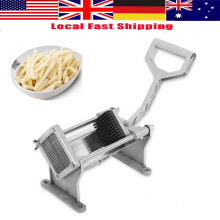 Stainless Steel Manual Potato Slicer Fruit Vegetable Slicer French Fry Chopper Tool 4 kinds Blades Chips Cutter Machine