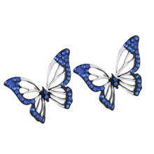 New 2017 Hit Color Butterfly Earrings Hollow Stitching Color Two For Women