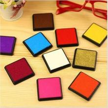 15 colors 4*4cm New Candy Color stamp Ink pad wedding Gift Inkpad for DIY stamping Funny work Labels JJ0087