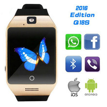 Bluetooth smart health electronics watch Apro Q18s NFC SIM Video camera Support Android/IOS phone wearable devices PK gt08 dz09(China)