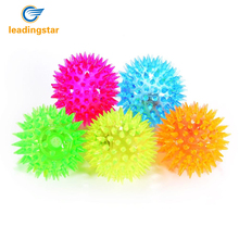LeadingStar  pack of 5 Elastic Spike Ball with LED flash light up for fun/Games with Fastening Strap zk15