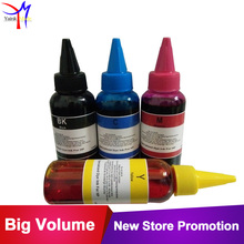 4 x 100ml specialized CISS Refill kit Dye Ink For HP 61 62 63 301 302 901 662 664 122 123 printer ink cartridge tinta(China)