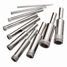 10pcs/set Steel Diamond Hole Saw Drill Bit Set 3mm-13mm Tile Ceramic Glass Porcelain Marble Hole Saw High Quality