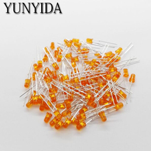 14-19 3mm LED orange light-emitting diode 100pieces/lot feet long 16-18mm(China)