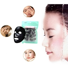 New 30Pcs DIY Compressed Mask Paper Facial Natural Bamboo Charcoal Mask Paper Fiber Face Care Mask Paper Sheet