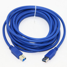 USB 3.0 Printer Cable Type A Male to Type B Male Foil+Braided+PVC Shielding 30cm 50cm 100cm 1.5m 1.8m 3m  5m