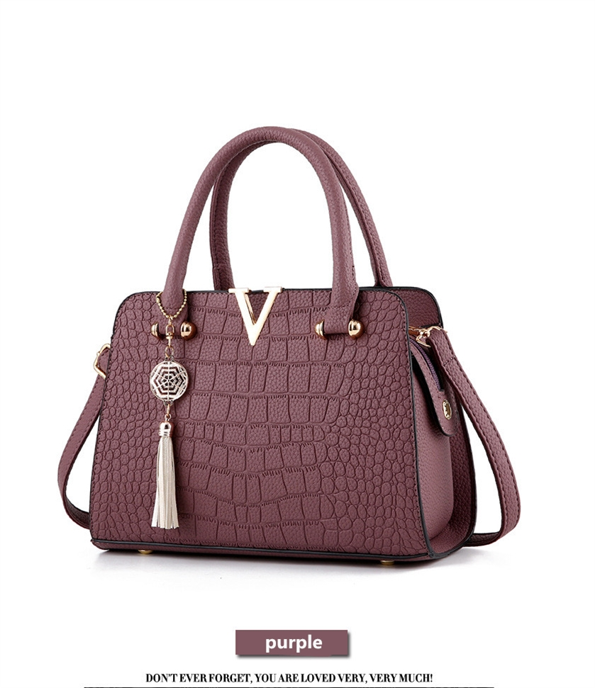 Crocodile Leather Luxury Quality Lady Shoulder Bags 9
