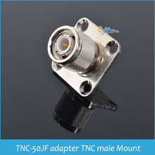Sindax TNC connector TNC-50JF adapter TNC male Mount Flange Mount square plate fixed coaxial connectors 10pcs(China)