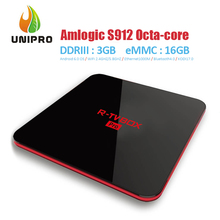 In Stock!R-TV BOX Amlogic S912 Octa Core 3G/16G Android 6.0 4K TV BOX 2.4G+5G WIFI Bluetooth 1000M LAN Andriod TV BOX