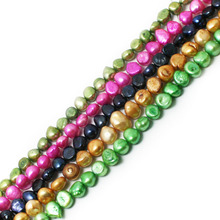 9-10mm 35.5cm/bag Irregular Shape Natural Dyed Freshwater Pearl Beads Loose Pearl Beads For Jewelry Making Necklace Bracelet DIY