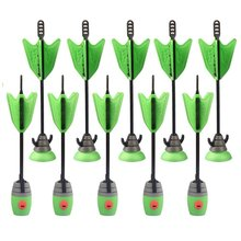 Toys Air 2 Units Extra Arrows Suction Cup Arrows Refills Whistle Arrows Green Orange For Zing Bow Kids Children Outdoor Toy