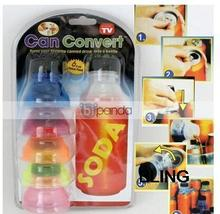4sets/lot Creative Soda Savers Toppers Bottle Caps For Can Drink Retail Pkg Free Shipping Wholesale As Seen On TV Only $12.99(China)