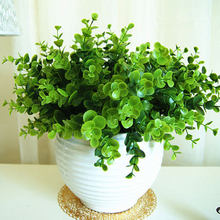 Cheap!  HIGHT Quality Green Leaves European 1 Bouquet Artificial Flowers Vivid Fake Leaf Wedding Home Party Decoration