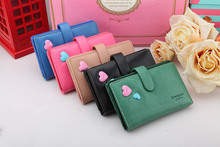 new arrive PU leather women medium size wallets,fashion sweet heart design candy solid color purse bag.high quality new brand