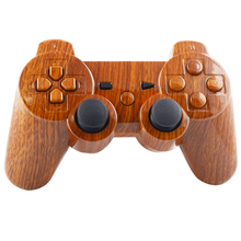 Newest Case For PS3 Controller Wood Grain Hydro Dipped Shell Housing With Button(China)