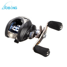 Bobing LPR-01 LAM200 11BB 6.3:1 Low Profile Fishing Reel Left Right Handle Brake Carrete Coil Winder Lure Bait Casting Tackle(China)