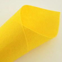 Bright Yellow Colour 1mm Thick Handmade Gift Package Clean Materials Sewing Toys Hats Felt Fabric Automotive Nonwoven(China)