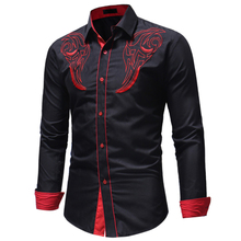 Buy 2018 Fashion Male Shirt Long -Sleeves Tops Embroidery Cotton Shirt Mens Hawaiian Dress Shirts Slim Men Shirt Plus Size 3XL for $11.03 in AliExpress store