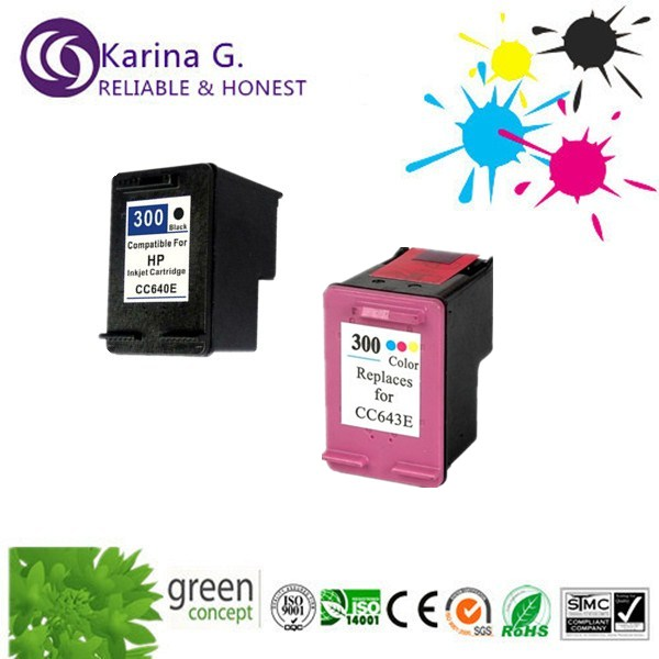 1 set full ink refill ink cartridge with printhead  for HP300 bk+c for HP DeskJet F2560 F2568 F4280 4288<br><br>Aliexpress
