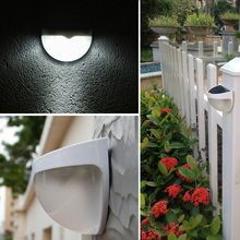 6-LED Solar Power Wall Light Lamp For Garden Yard Gutter Fence Outdoor/Indoor Light-dependent control