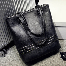 Women Top-handle Bags Rivet Tote Bag Retro Bolsos High Quality Bolsas Femininas Handbag Female Shoulder Bags Sac A Main Femme