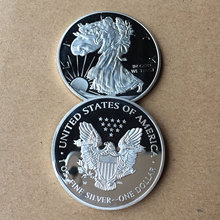 American Silver Dollar Eagle Pattern Coins Museum Coin Collection Metal