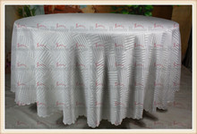 White Stripe Jacquard Tablecloth/Table Cover For Wedding Party Hotel Banquet Home Decorations(Chair covers&Sashes)