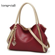 longmiao Casual Tote Women Shoulder Bags PU Leather Women Bags Designer Brand Female Handbags Hobo Crossbody Bags Sac(China)