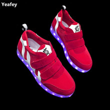 Yeafey Red Luminous Womens Fashion Sneakers Shoe Casual Glowing Illuminated Sneakers Size 35-40 Platform Women Led Luminous Shoe(China)