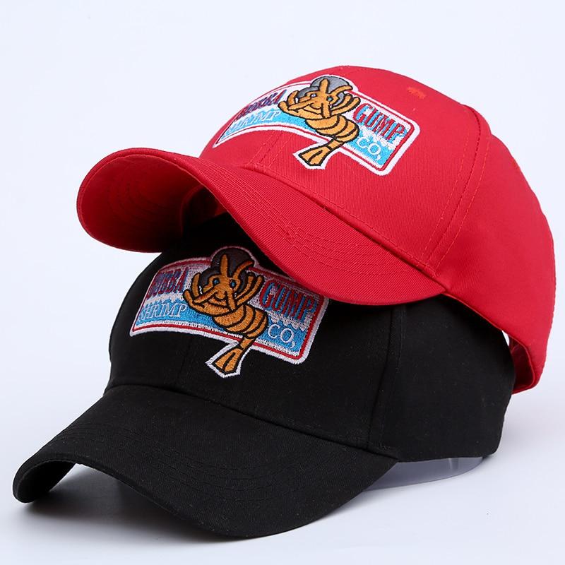 Bubba Gump Forrest Shrimp Co.Company Logo Cosplay Adult Red Baseball Cap Jog Hat