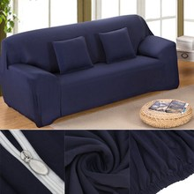 Furniture Protector With Elastic Solid Pure Color Lounge Couch Stretch Sofa Cover 1 /2/3/4 Seater Arm Chair Sofa Case Slipcover