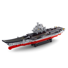 Sluban Model Toy Compatible with Lego B0388 1881pcs Chinese Liaoning Ship Model Building Kits Toys Hobbies Building Model Blocks(China)